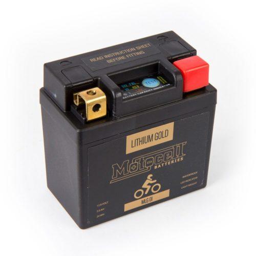 Motocell MLG01 Lithium GOLD Motorcycle Battery Australia