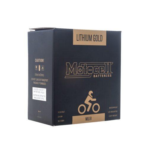 Motocell MLG8 Lithium Motorcycle Battery AUSTRALIA - box front
