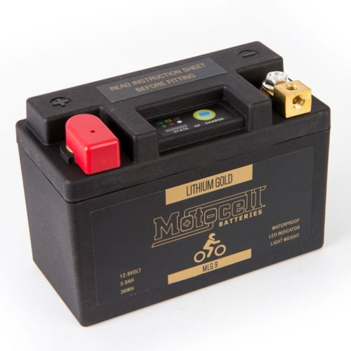 Motocell MLG9 Lithium Motorcycle Battery AUSTRALIA - front view