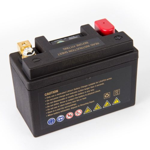 Motocell MLG9 Lithium Motorcycle Battery AUSTRALIA - back view