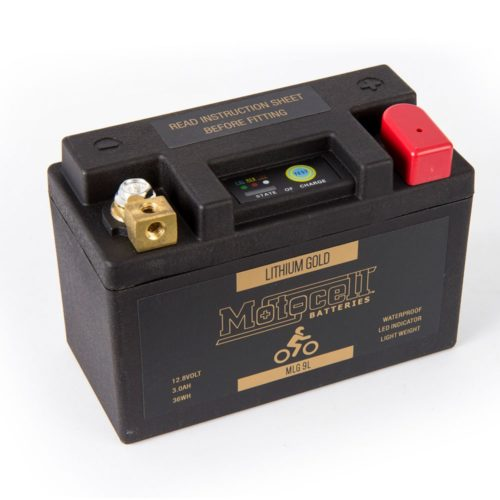 Motocell MLG9L Lithium Motorcycle Battery AUSTRALIA - front view