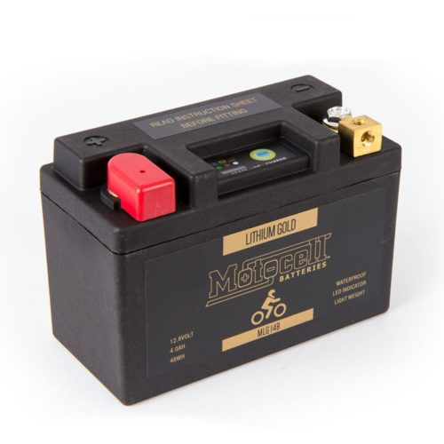 Motocell MLG14B Lithium Motorcycle Battery AUSTRALIA - front view