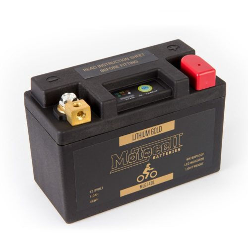 Motocell MLG14BL Lithium Motorcycle Battery AUSTRALIA - front view