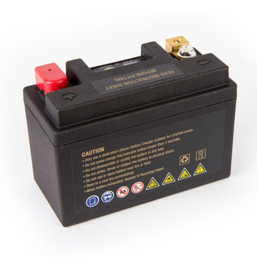 Motocell MLG14BL Lithium Motorcycle Battery AUSTRALIA - back view