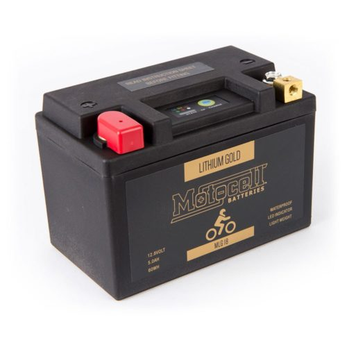 Motocell MLG18 Lithium Motorcycle Battery AUSTRALIA - front view