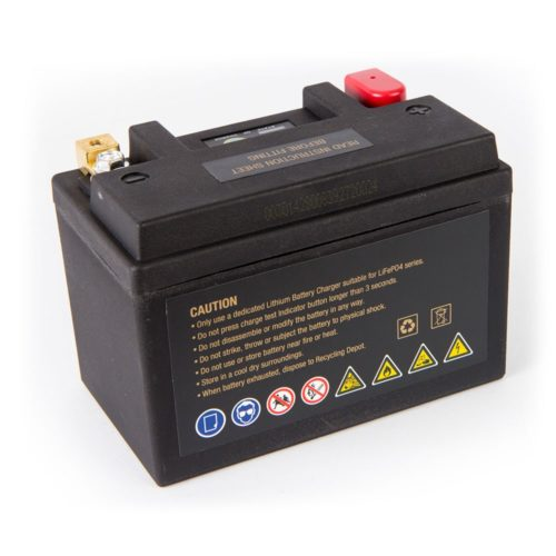 Motocell MLG18 Lithium Motorcycle Battery AUSTRALIA - back view