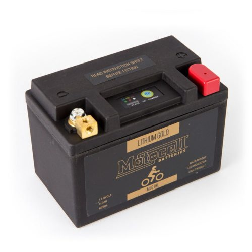 Motocell MLG18L Lithium Motorcycle Battery AUSTRALIA - front view