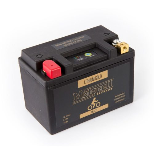 Motocell MLG21 Lithium Motorcycle Battery AUSTRALIA - front view