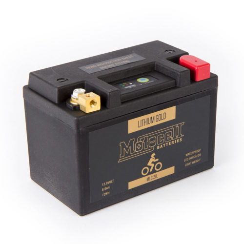 Motocell MLG21L Lithium Motorcycle Battery AUSTRALIA - front view