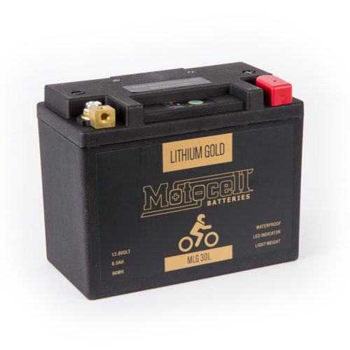 Motocell MLG30L Lithium Motorcycle Battery AUSTRALIA - front view